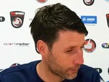 Lincoln City boss Danny Cowley at a press conference in February 2017