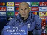 Real Madrid manager Zinedine Zidane on March 6, 2017