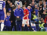 Ander Herrera receives his marching orders during the FA Cup quarter-final between Chelsea and Manchester United on March 13, 2017