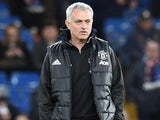 Jose Mourinho watches on during the FA Cup quarter-final between Chelsea and Manchester United on March 13, 2017
