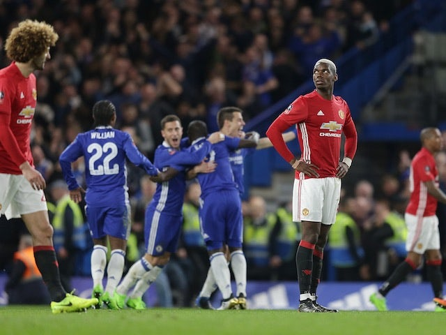 Result: Chelsea down 10-man Man Utd to reach semis