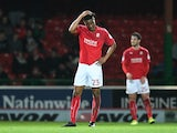 Rohan Ince reacts during the match between Swindon Town and Sheffield United on March 14, 2017