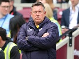 Craig Shakespeare watches on during the Premier League game between West Ham United and Leicester City on March 18, 2017