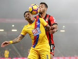 Patrick van Aanholt of Crystal Palace and Joshua King of Bournemouth on January 31, 2017