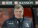 Crystal Palace manager Sam Allardyce watches on during his side's Premier League clash with Bournemouth at the Vitality Stadium on January 31, 2017