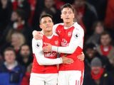 Alexis Sanchez and Mesut Ozil pictured together on November 27, 2016