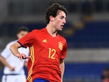 Alvaro Odriozola of Spain Under-21s in a friendly against Italy Under-21s on March 27, 2017