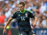 Dave Edwards in action for Wales against England on June 16, 2016