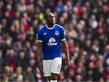 Romelu Lukaku in action during the Premier League game between Liverpool and Everton on April 1, 2017