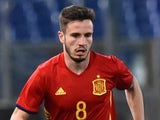 Saul Niguez in action for Spain Under-21s against Italy Under-21s on March 27. 2017