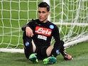 Jose Maria Callejon of Napoli in inaction against Lazio on April 9, 2017