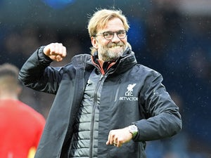 A delighted Jurgen Klopp after the Premier League game between West Bromwich Albion and Liverpool on April 16, 2017