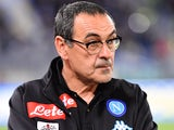 Napoli manager Maurizio Sarri at the game against Lazio on April 9, 2017