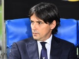 Lazio manager Simone Inzaghi at the match against Napoli on April 9, 2017