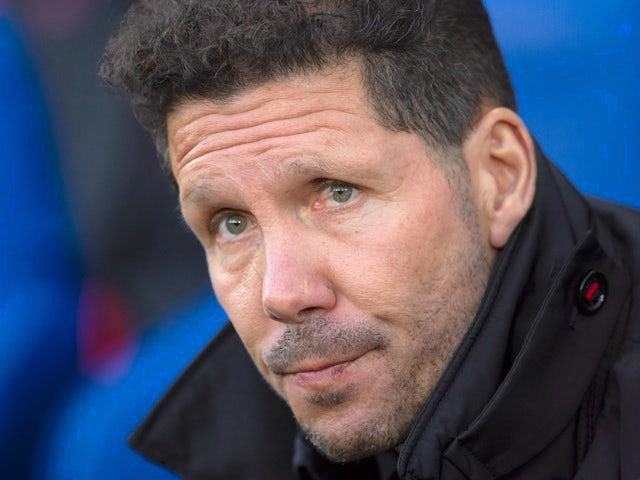 Atletico Madrid manager Diego Simeone during the Champions League match with Leicester City on April 18, 2017