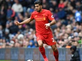 Emre Can in action during the Premier League game between West Bromwich Albion and Liverpool on April 16, 2017