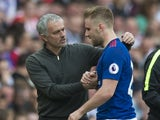 Luke Shaw is substituted in Manchester United's match against Sunderland on April 9, 2017