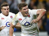 Owen Farrell scores a try for England against Australia on June 25, 2016