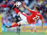 Switzerland's Xherdan Shaqiri in action during the Euro 2016 match against Romania on June 15, 2016