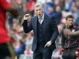 Sunderland manager David Moyes during the Premier League match against Bournemouth on April 29, 2017