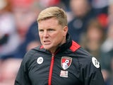 Bournemouth manager Eddie Howe during the Premier League match against Sunderland on April 29, 2017