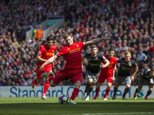 Result: Milner misses penalty in Liverpool draw