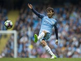 David Silva in action during the Premier League game between Manchester City and Crystal Palace on May 6, 2017