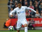 Martin Olsson in action during the Premier League game between Swansea City and Everton on May 6, 2017