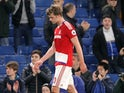 A downbeat Patrick Bamford after the Premier League game between Chelsea and Middlesbrough on May 8, 2017