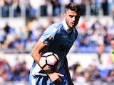 Wesley Hoedt in action during the Serie A game between Lazio and Sampdoria on May 7, 2017