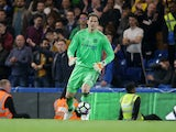 Chelsea goalkeeper Asmir Begovic during the Premier League match against Watford on May 15, 2017