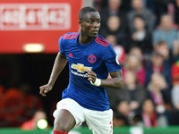 Manchester United's Eric Bailly during the Premier League match against Southampton on May 17, 2017