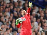 Watford goalkeeper Heurelho Gomes during the Premier League match against Chelsea on May 15, 2017