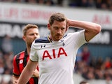 Tottenham Hotspur's Jan Vertonghen during the Premier League match against Bournemouth on April 15, 2017