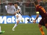 Juventus's Leonardo Bonucci in action against Roma on May 14, 2017
