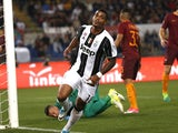 Mario Lemina of Juventus in action against AS Roma on May 14, 2017