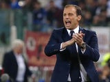 Juventus manager Massimiliano Allegri during the Serie A match against Roma on May 14, 2017