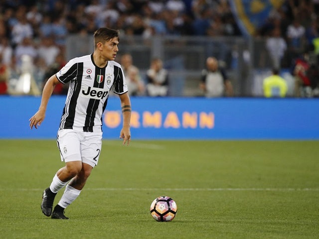 Paulo Dybala in action for Juventus in the Coppa Italia final against Lazio on May 17, 2017