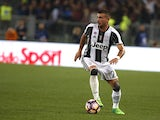 Juventus's Stefano Sturaro in action against Roma on May 14, 2017