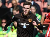 Hull City's Andrew Robertson in action during the Premier League match against Southampton on April 29, 2017