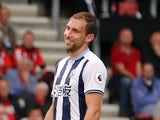 West Bromwich Albion's Craig Dawson during the Premier League match against Bournemouth on September 10, 2016