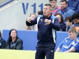 Craig Shakespeare watches on during the Premier League game between Leicester City and Bournemouth on May 21, 2017