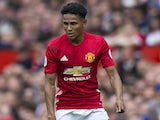 Demetri Mitchell in action during the Premier League game between Manchester United and Crystal Palace on May 21, 2017