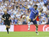 Chelsea's Diego Costa in action during the FA Cup final against Arsenal on May 27, 2017