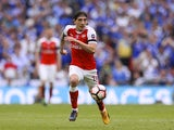 Arsenal's Hector Bellerin in action during the FA Cup final against Chelsea on May 27, 2017