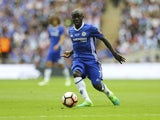 Chelsea's N'Golo Kante during the FA Cup final against Arsenal on May 27, 2017