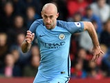 Manchester City's Pablo Zabaleta during the Premier League match against Southampton on April 15, 2017