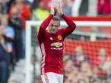 Wayne Rooney applauds after the Premier League game between Manchester United and Crystal Palace on May 21, 2017