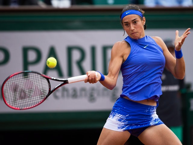 Caroline Garcia in action against Alize Cornet at the French Open on June 5, 2017