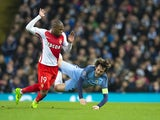 Djibril Sidibe of AS Monaco in Champions League action against Manchester City on February 21, 2017
